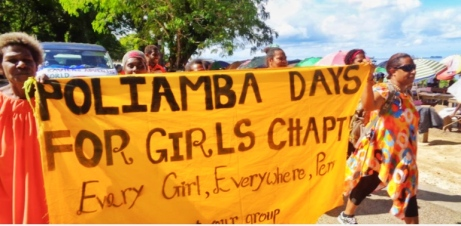 Days for Girls WTD march Kavieng